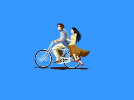 骑自行车flash动画素材