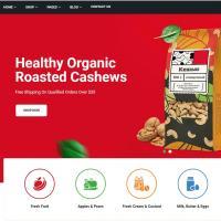 国外线上食品超市网站前端Bootstrap